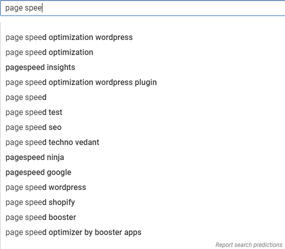 Google autosuggest for keyword research